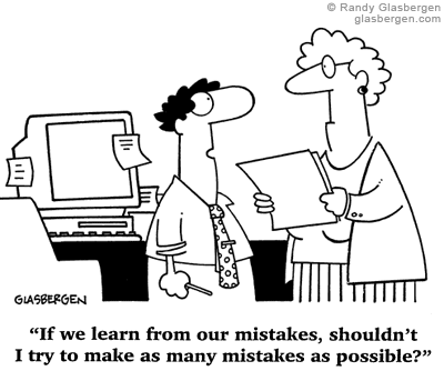 Mistake Cartoon